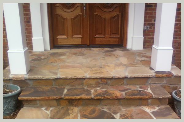 Flagstone Front Porch Eastcobbs Best Remodeling